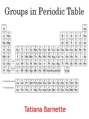 cover image of Groups in Periodic Table