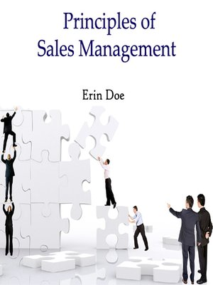 cover image of Principles of Sales Management