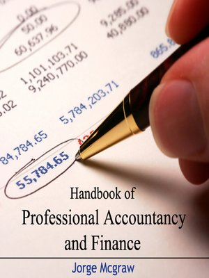 cover image of Handbook of Professional Accountancy and Finance