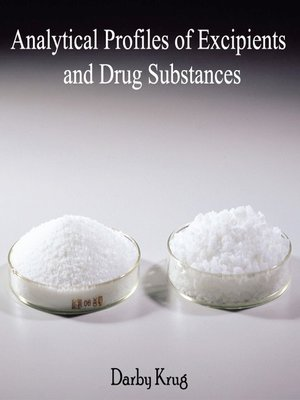cover image of Analytical Profiles of Excipients and Drug Substances