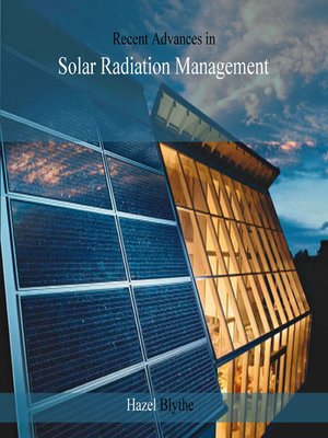 cover image of Recent Advances in Solar Radiation Management