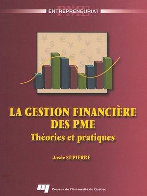 cover image of La gestion financière des PME