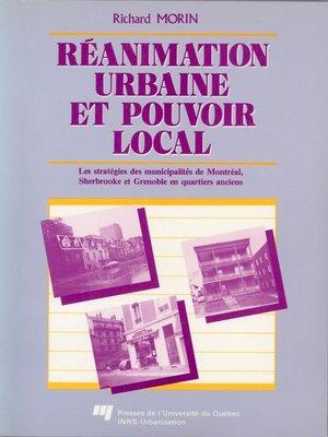 cover image of Réanimation urbaine et pouvoir local