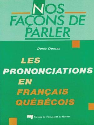 cover image of Nos façons de parler
