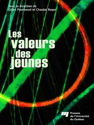 cover image of Les valeurs des jeunes