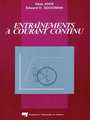 cover image of Entraînements à courant continu
