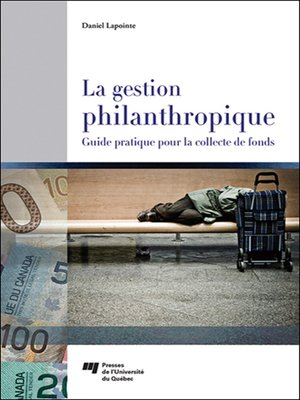 cover image of La gestion philanthropique