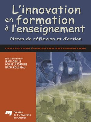 cover image of L' innovation en formation à l'enseignement