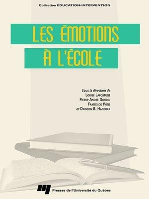 cover image of Les émotions à l'école