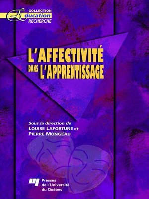 cover image of L' affectivité dans l'apprentissage