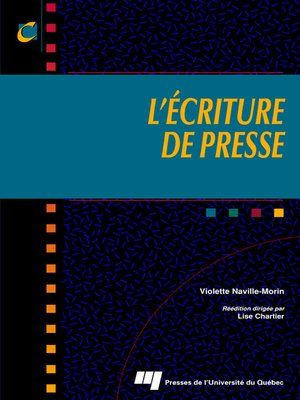 cover image of L' écriture de presse