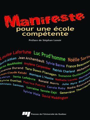 cover image of Manifeste pour une école compétente