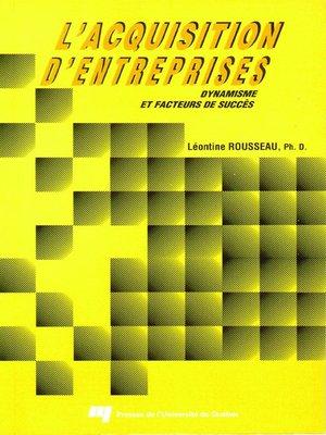 cover image of L' acquisition d'entreprises