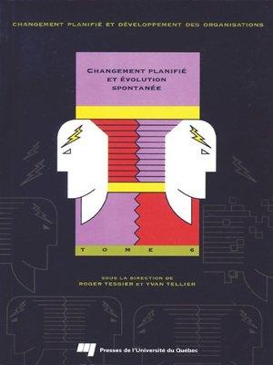 cover image of Changement planifié et évolution spontanée