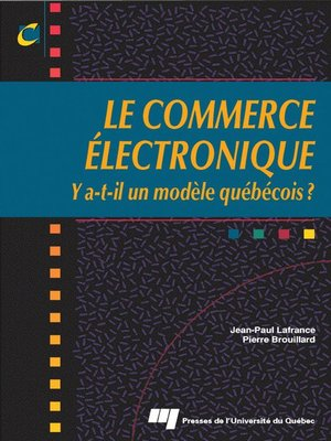 cover image of Le commerce électronique