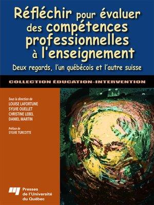cover image of Réfléchir pour évaluer des compétences professionnelles à l'enseignement