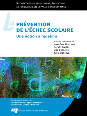 cover image of La prévention de l'échec scolaire