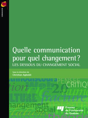 cover image of Quelle communication pour quel changement?