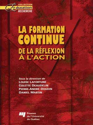 cover image of La formation continue