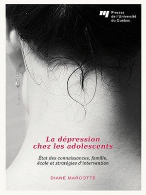 cover image of La dépression chez les adolescents