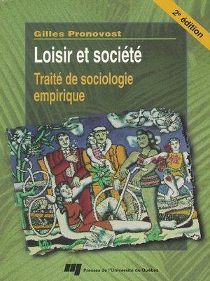 cover image of Loisir et société