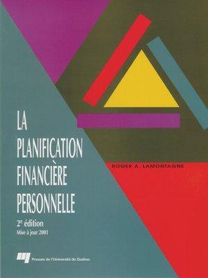 cover image of La planification financière personnelle