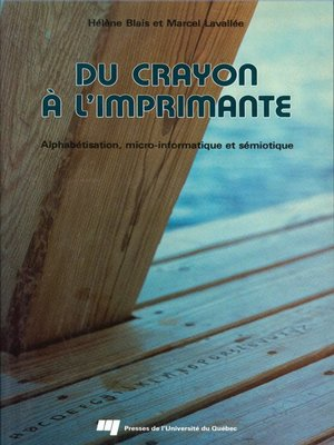 cover image of Du crayon à l'imprimante