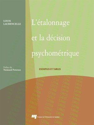 cover image of L' étalonnage et la décision psychométrique