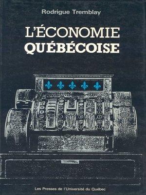 cover image of L' économie québécoise