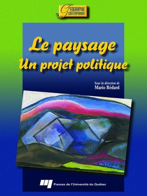 cover image of Le paysage