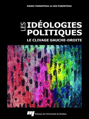 cover image of Les idéologies politiques