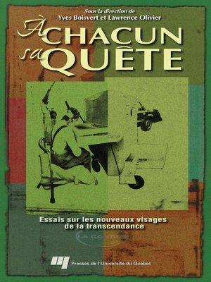 cover image of À chacun sa quête