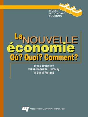 cover image of La nouvelle économie