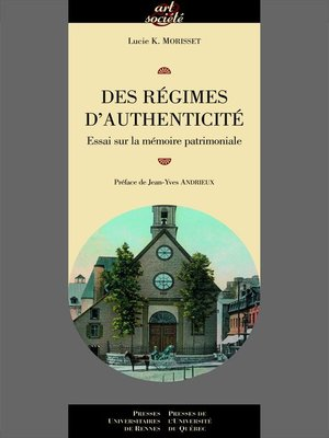 cover image of Des régimes d'authenticité