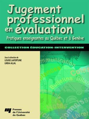 cover image of Jugement professionnel en évaluation