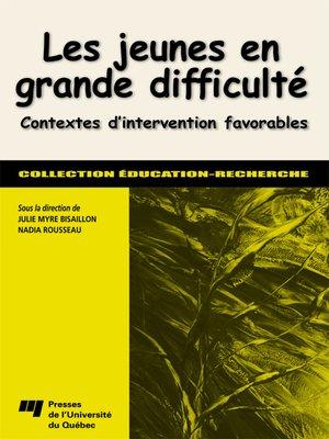 cover image of Les jeunes en grande difficulté