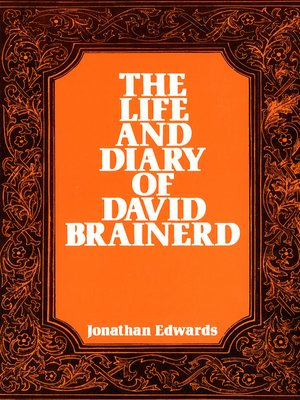 cover image of The Life and Diary of David Brainerd
