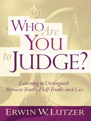 cover image of Who Are You to Judge?
