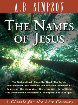 cover image of The Names of Jesus