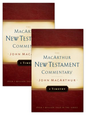 cover image of 1 & 2 Timothy MacArthur New Testament Commentary Set