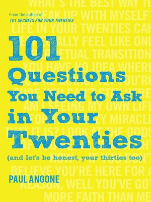 cover image of 101 Questions You Need to Ask in Your Twenties