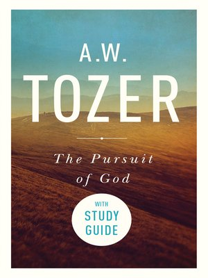 cover image of Pursuit of God with Study Guide