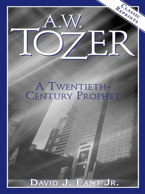 cover image of A.W. Tozer