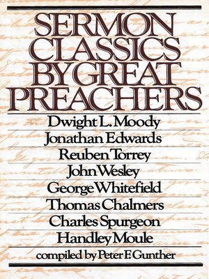 cover image of Sermon Classics by Great Preachers