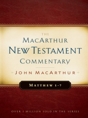cover image of Matthew 1-7 MacArthur New Testament Commentary