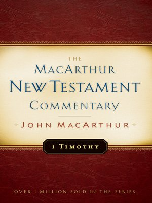 cover image of 1 Timothy MacArthur New Testament Commentary