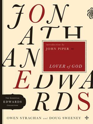 cover image of Jonathan Edwards Lover of God