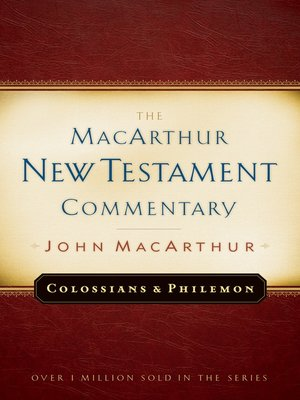 cover image of Colossians and Philemon MacArthur New Testament Commentary