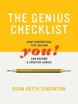 cover image of The Genius Checklist