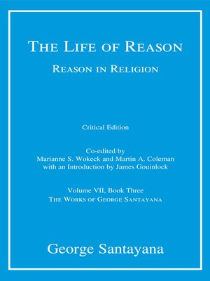 cover image of The Life of Reason or the Phases of Human Progress